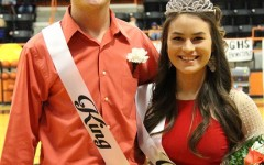 Homecoming King and Queen Stacey Cohorst and Hannah Cortinas