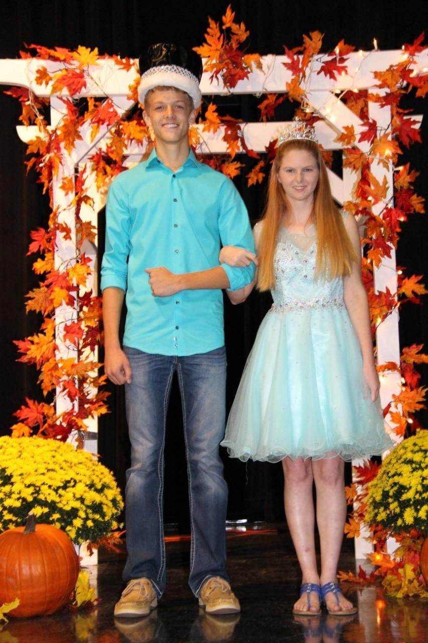 2016 Halloween Carnival Queen's Contest winners, Juniors Collin Coleman and BreeAnna Cameron