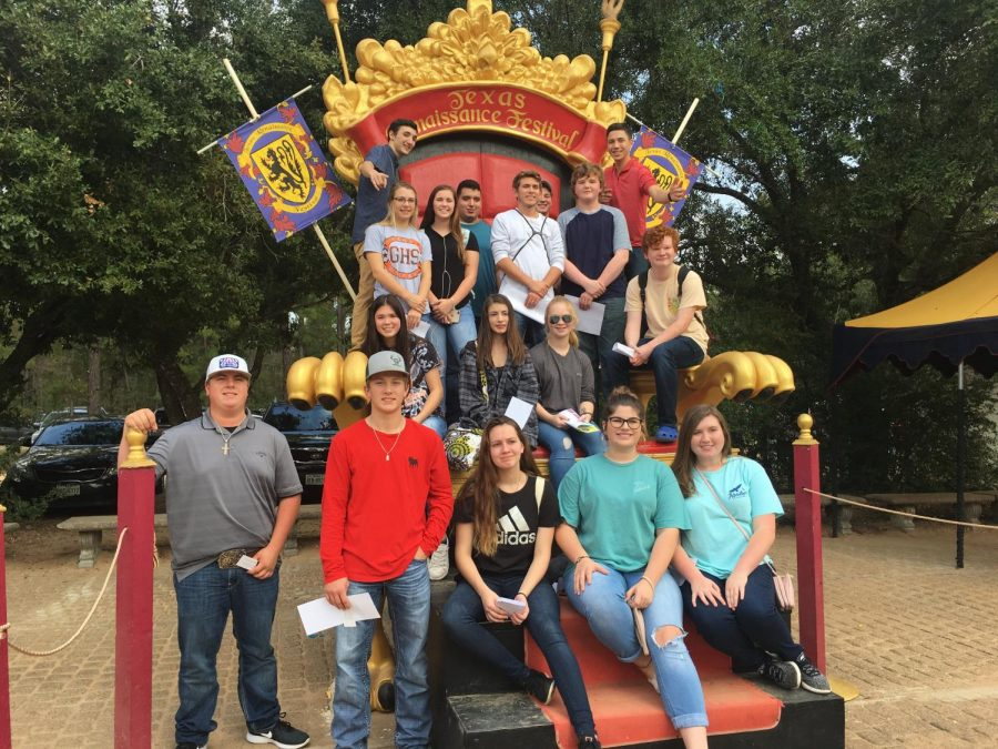 The senior English class, and the journalism staff at the Renaissance Festival.