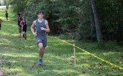 Sophomore Holden Robinson competing in the Broaddus cross country meet.